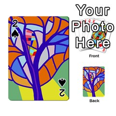Decorative tree 4 Playing Cards 54 Designs