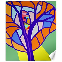 Decorative tree 4 Canvas 8  x 10