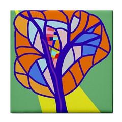 Decorative tree 4 Face Towel