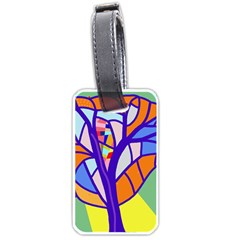 Decorative tree 4 Luggage Tags (One Side)