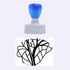 Decorative tree 4 Rubber Oval Stamps
