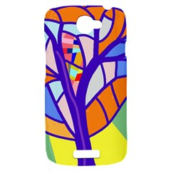 Decorative tree 4 HTC One S Hardshell Case