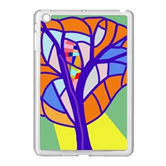 Decorative tree 4 Apple iPad Mini Case (White)