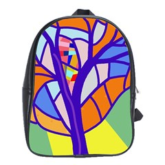Decorative tree 4 School Bags (XL)