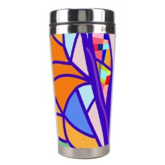 Decorative tree 4 Stainless Steel Travel Tumblers