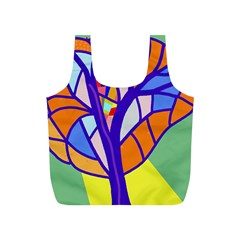 Decorative tree 4 Full Print Recycle Bags (S)