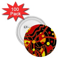 Orange floating 1.75  Buttons (100 pack)
