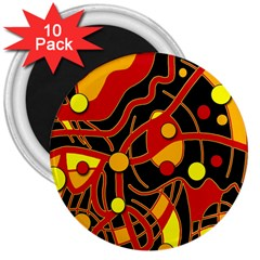 Orange floating 3  Magnets (10 pack)