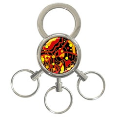 Orange floating 3-Ring Key Chains