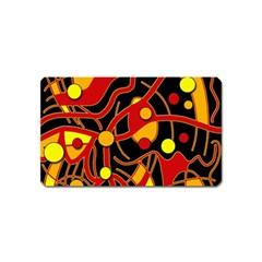 Orange floating Magnet (Name Card)