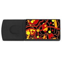 Orange floating USB Flash Drive Rectangular (2 GB)