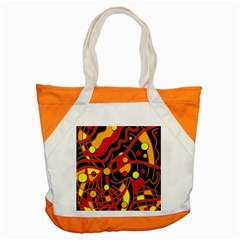 Orange floating Accent Tote Bag