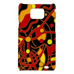 Orange floating Samsung Galaxy S2 i9100 Hardshell Case