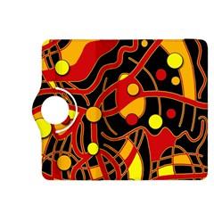 Orange floating Kindle Fire HDX 8.9  Flip 360 Case
