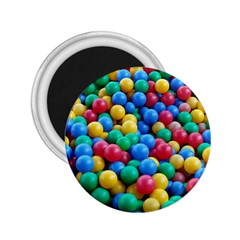 Funny Colorful Red Yellow Green Blue Kids Play Balls 2.25  Magnets