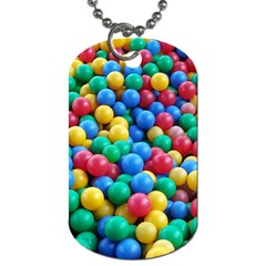 Funny Colorful Red Yellow Green Blue Kids Play Balls Dog Tag (One Side)