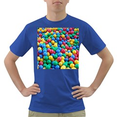 Funny Colorful Red Yellow Green Blue Kids Play Balls Dark T-Shirt