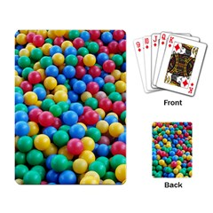 Funny Colorful Red Yellow Green Blue Kids Play Balls Playing Card