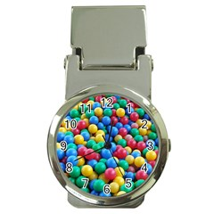 Funny Colorful Red Yellow Green Blue Kids Play Balls Money Clip Watches