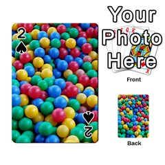 Funny Colorful Red Yellow Green Blue Kids Play Balls Playing Cards 54 Designs