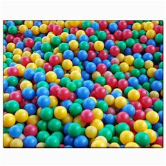 Funny Colorful Red Yellow Green Blue Kids Play Balls Canvas 8  x 10