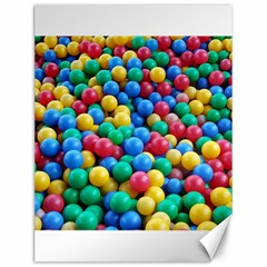 Funny Colorful Red Yellow Green Blue Kids Play Balls Canvas 12  x 16