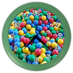 Funny Colorful Red Yellow Green Blue Kids Play Balls Color Wall Clocks