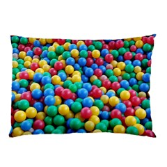 Funny Colorful Red Yellow Green Blue Kids Play Balls Pillow Case