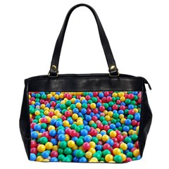 Funny Colorful Red Yellow Green Blue Kids Play Balls Office Handbags (2 Sides)