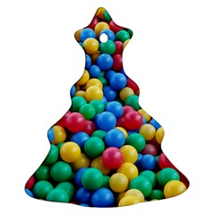 Funny Colorful Red Yellow Green Blue Kids Play Balls Ornament (Christmas Tree)