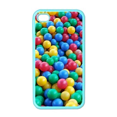Funny Colorful Red Yellow Green Blue Kids Play Balls Apple iPhone 4 Case (Color)