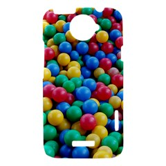 Funny Colorful Red Yellow Green Blue Kids Play Balls HTC One X Hardshell Case