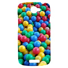 Funny Colorful Red Yellow Green Blue Kids Play Balls HTC One S Hardshell Case