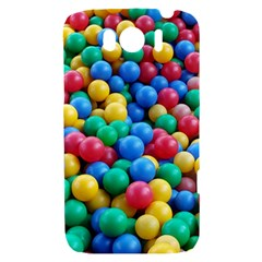 Funny Colorful Red Yellow Green Blue Kids Play Balls HTC Sensation XL Hardshell Case