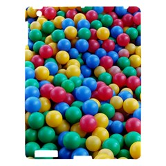 Funny Colorful Red Yellow Green Blue Kids Play Balls Apple iPad 3/4 Hardshell Case