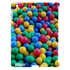 Funny Colorful Red Yellow Green Blue Kids Play Balls Apple iPad 3/4 Hardshell Case (Compatible with Smart Cover)