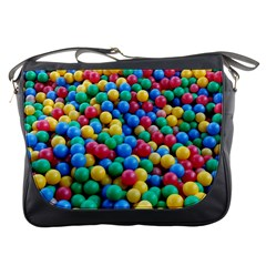 Funny Colorful Red Yellow Green Blue Kids Play Balls Messenger Bags