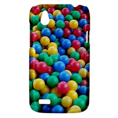 Funny Colorful Red Yellow Green Blue Kids Play Balls HTC Desire V (T328W) Hardshell Case