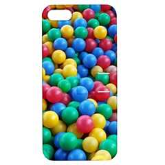 Funny Colorful Red Yellow Green Blue Kids Play Balls Apple iPhone 5 Hardshell Case with Stand