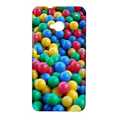 Funny Colorful Red Yellow Green Blue Kids Play Balls HTC One M7 Hardshell Case