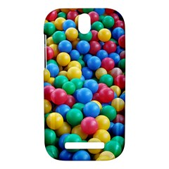Funny Colorful Red Yellow Green Blue Kids Play Balls HTC One SV Hardshell Case