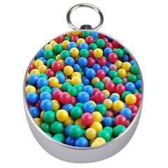 Funny Colorful Red Yellow Green Blue Kids Play Balls Silver Compasses