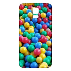 Funny Colorful Red Yellow Green Blue Kids Play Balls Samsung Galaxy S5 Back Case (White)
