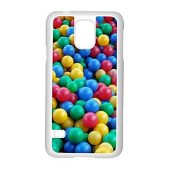 Funny Colorful Red Yellow Green Blue Kids Play Balls Samsung Galaxy S5 Case (White)