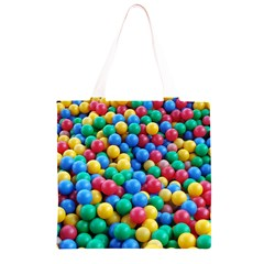Funny Colorful Red Yellow Green Blue Kids Play Balls Grocery Light Tote Bag