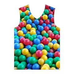 Funny Colorful Red Yellow Green Blue Kids Play Balls Men s Basketball Tank Top