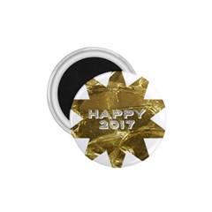 Happy New Year 2017 Gold White Star 1.75  Magnets