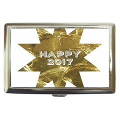 Happy New Year 2017 Gold White Star Cigarette Money Cases