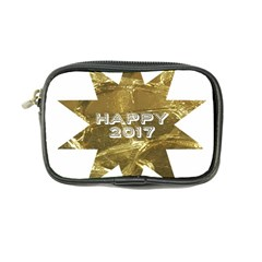 Happy New Year 2017 Gold White Star Coin Purse