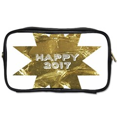 Happy New Year 2017 Gold White Star Toiletries Bags